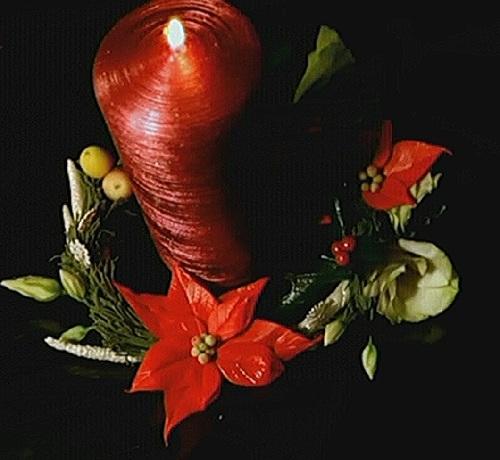 Рождественский венок из полимерной